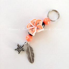 Schlüsselanhänger orange/schwarz