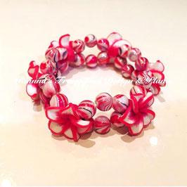 Frangipani Armband Rot