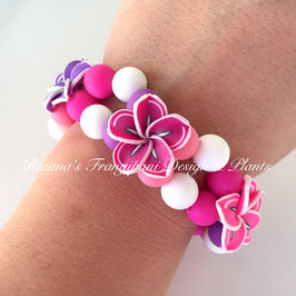 Frangipani Armband Pink-Lila