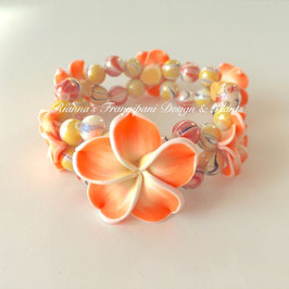 Frangipani Armband Orange