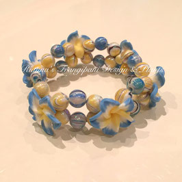 Frangipani Armband Blau