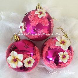 """Rianna's Design"" Dekokugeln Pink 7cm"
