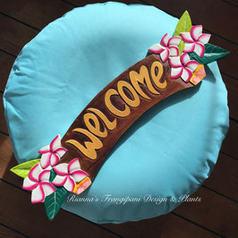 Welcome mit Frangipani Blüten 54cm