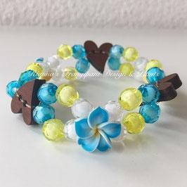 Frangipani Armband mit Herz