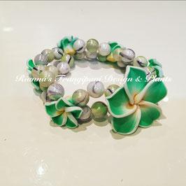 Frangipani Armband Grün