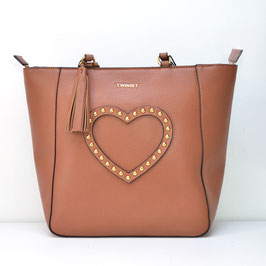 SHOPPING CUORE CUOIO MY TWIN TWINSET