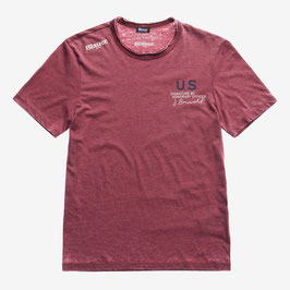 T-SHIRT HONORARY OFFICER UOMO ROSSO MIRTO BLAUER