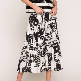 GONNA PANTALONE IN GEORGETTE STAMPATA TWINSET