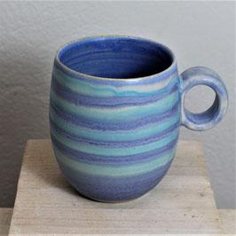 große Tasse, blau-türkis