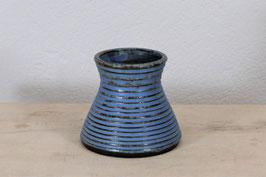 Rillenvase blau
