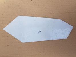 Scheibe Milchglas für Außenbogenweichenlaterne DR