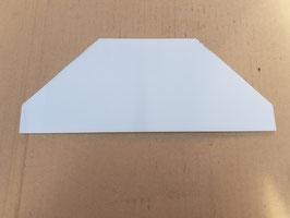 Scheibe Milchglas für Gleissperrsignallaterne DB