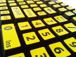 Adhesivos alto contraste para teclado standard. Ref.80380011