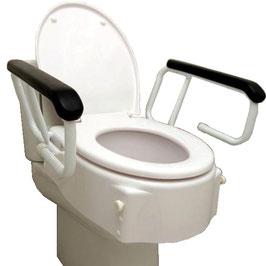 Asiento elevador WC con brazos. Ref.30120015