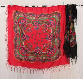 Russisches Tuch (rot oder schwarz)