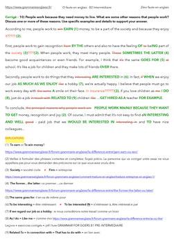 ZERO FAUTE EN ANGLAIS - ANGLAIS NIVEAU B2 INTERMEDIAIRE - 28 ESSAIS CORRIGES ET ANNOTES A IMPRIMER