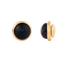 Magnetohrring mit  Natursteinen Obsidianschwarz