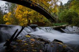 Schwechat Fluss im Helenental in Baden bei Wien