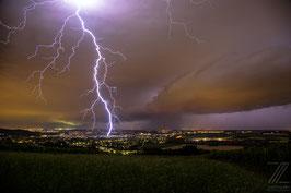 Blitzeinschlag in Baden bei Wien 2016 im Juni