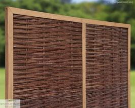 Naturzaun mit Holzrahmen  Serie CIRCO