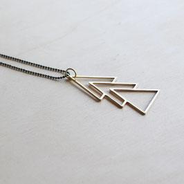 "Kette Messing ""Dreiecke"" - 75 cm"