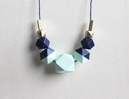 """Holzkette """"dunkelblau-mint"""""""