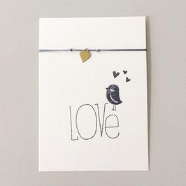 "Herz-Armband mit Karte ""Love"""