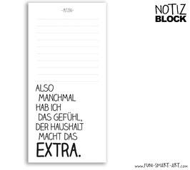 Notizblock Extra