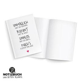 Notizbuch Machs