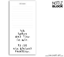 Notizblock Faultier
