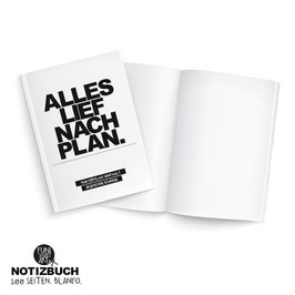 Notizbuch Plan