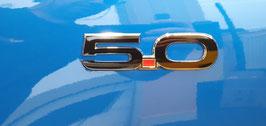 5.0 Sticker (Paar) in  matt- oder glanzschwarz (14x3,7cm) Modell S550