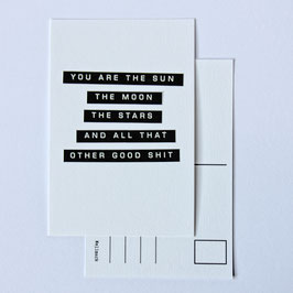 Postcard YOU ARE THE SUN THE MOON