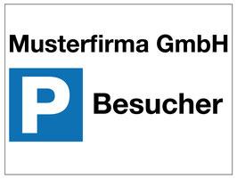Parkplatzschild Firmenbesucher | 30 x 40 cm (editierbar)