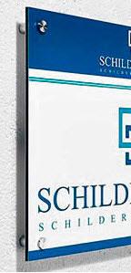 Firmenschild Dibond 45 x 30 cm