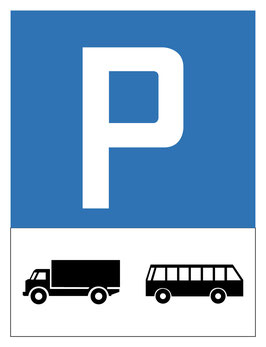 Parkplatzschild Motorwagenparkplatz | 40 x 30 cm (Nicht editierbar)
