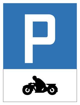 Parkplatzschild Motorradparkplatz | 40 x 30 cm (Nicht editierbar)