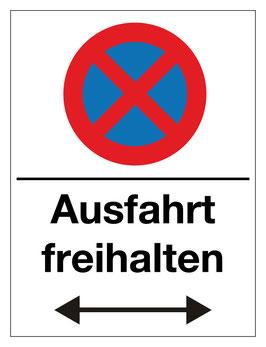 Verbotsschild Ausfahrt freihalten | 40 x 30 cm (Nicht editierbar)