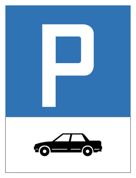 Parkplatzschild Autoparkplatz | 40 x 30 cm (Nicht editierbar)
