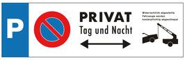 Parkplatzschild Privat | 40 x 12 cm (Nicht editierbar)