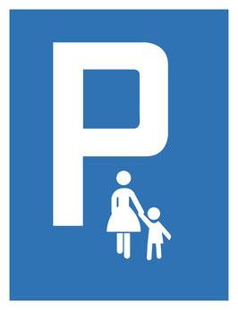 Parkplatzschild Mutterkindparkplatz | 40 x 30 cm (Nicht editierbar)