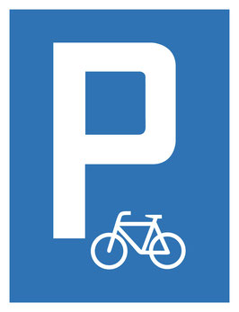Parkplatzschild Fahrradparkplatz | 40 x 30 cm (Nicht editierbar)