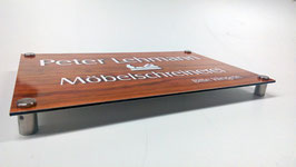 Firmenschild Dibond 90 x 65 cm