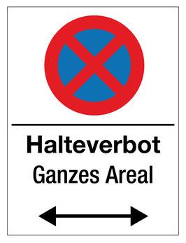 Verbotsschild Halteverbot | 40 x 30 cm (Nicht editierbar)
