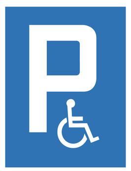 Parkplatzschild Behindertenparkplatz | 40 x 30 cm (Nicht editierbar)