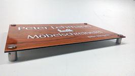 Firmenschild Dibond 75 x 50 cm