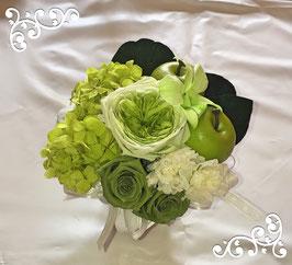 白&グリーンのアラベスク