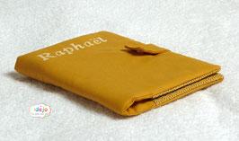 Protège-carnet moutarde