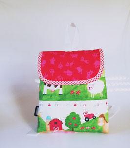 Kinderrucksack Bauernhof, Kindergartentasche, personalisiert, Handmade