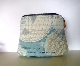 Kulturtasche, Reise Nessesair Weltkarte
